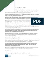Fundamentals Course Outline Offer