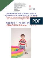 Guida Pratica BAMBINO PROTAGONISTA 1-4 ANNI -  prime 3 Schede Omaggio
