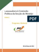 Programa JSD Montijo Concelhia 2011-13
