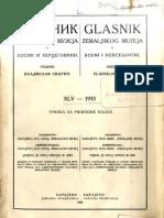 Glasnik Zemaljskog muzeja u BiH [godina 45, sveska 1; 1933.]