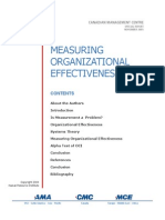 Measuring Organizational Effectiveness