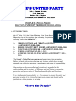 PUP Positon Paper on Proposed Legislation[1]