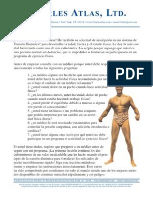 Curso de tension dinamica de charles atlas pdf
