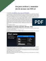 Guía completa para acelerar y aumentar el rendimiento de un mac con OSX al máximo