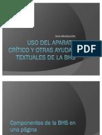 Uso del aparato crítico y otras ayudas textuales