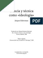 Habermas, Jurgen - Ciencia y Tecnica Como Ideologia Split