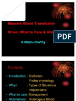Massive Blood Transfusion by Dr.bhanumurthy