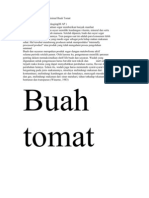 Teknologi Pengolahan Minimal Buah Tomat