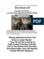 Military Resistance 9F8 Rising Defections From the Army[1]