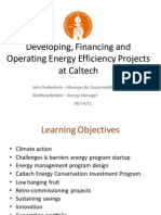 Developing, Financing and Operating Energy Efficiency Projects at Caltech