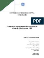 Protocolo - Assistência de Enfermagem no Controle Glicêmico em UTI