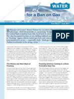 The Case for a Ban on Gas Fracking