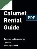 Calumet Photgraphic Uk Rental Guide 2010