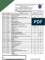 B.a Datesheet Annual 2011