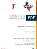 WMD Considerations for US&R Haz Mat Specialists - Program of Instruction