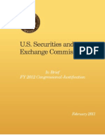 U.S. Securities and Exchange Commission - 2012 Congressional Justification