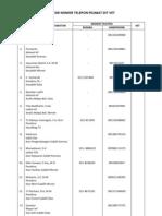 Daftar Nomor Telepon Pejabat Dit Vet