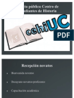 Cuenta pública CEHI primer semestre