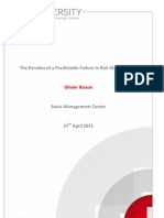 Raison_The Paradox of a Predictable Failure in Risk Management