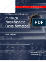 29th Annual Forum on Small Business Capital Formation