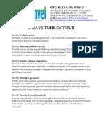 Turkey Tour 8 Days - IstanbulHotelsResorts.com