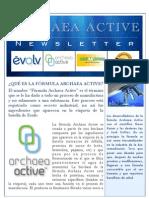 Archaeaactive Newsletter Agosto 25-2010