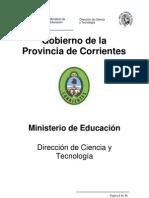 Reglamento Feria de Ciencias y Tecnología Provincia de Corrients