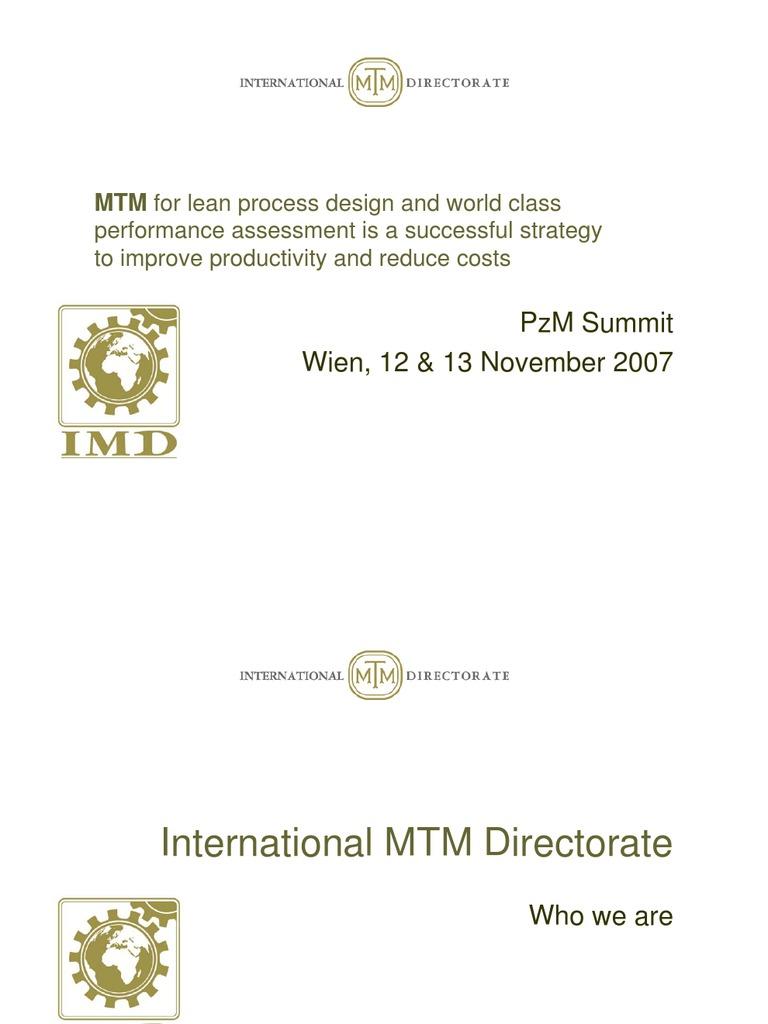 Imd Mtm Lean V03 Austrian Conf Lean Manufacturing Scientific Method