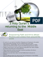 Holy Qurans-Returning to Middle East