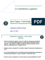 2011 Peer Review Feedstock Logistics Overview Tagore Revised