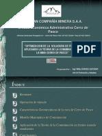 Optimizacion de La Voladura de Frentes Aplicando La Teoria de La Conminucion en La Mina Cerro de Pasco