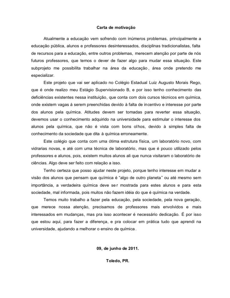 Carta De Motivaã ã O Faculdade Recipes Blog W