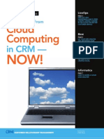 Best Practices White Paper Getting Value From Cloud Computing in CRM Now