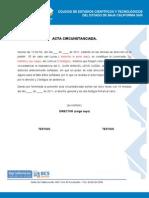 ACTA CIRCUSTANCIADA INASISTENCIA