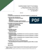 Capacidada profesional y especialización