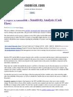 Project Evaluation – Sensitivity Analysis (Cash Flow) _ Discuss Economics Blog