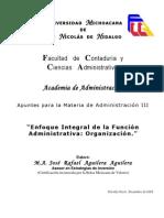 Enfoque Integral de la Función Administrativa - Organización AGUILERA AGUILERA