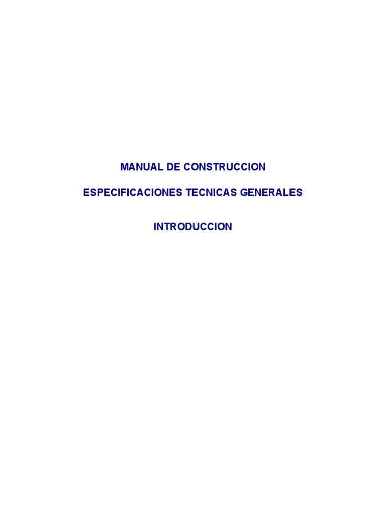 Manual de La Construccion