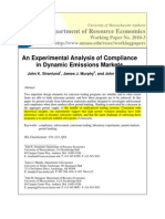 An Experimental Analysis of Compliance in Dynamic Emissions Markets