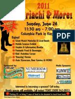 2011 Mariachi Festival Poster 8x11