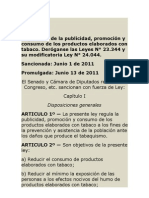 ley 26687 - tabaco