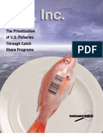 Fish, Inc. — The Privatization of U.S. Fisheries Through Catch Share Programs