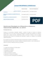 Gestión para Resultados en el Desarrollo en Gobiernos Subnacionales