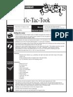 25_tic Tac Tok Irregular Verbs