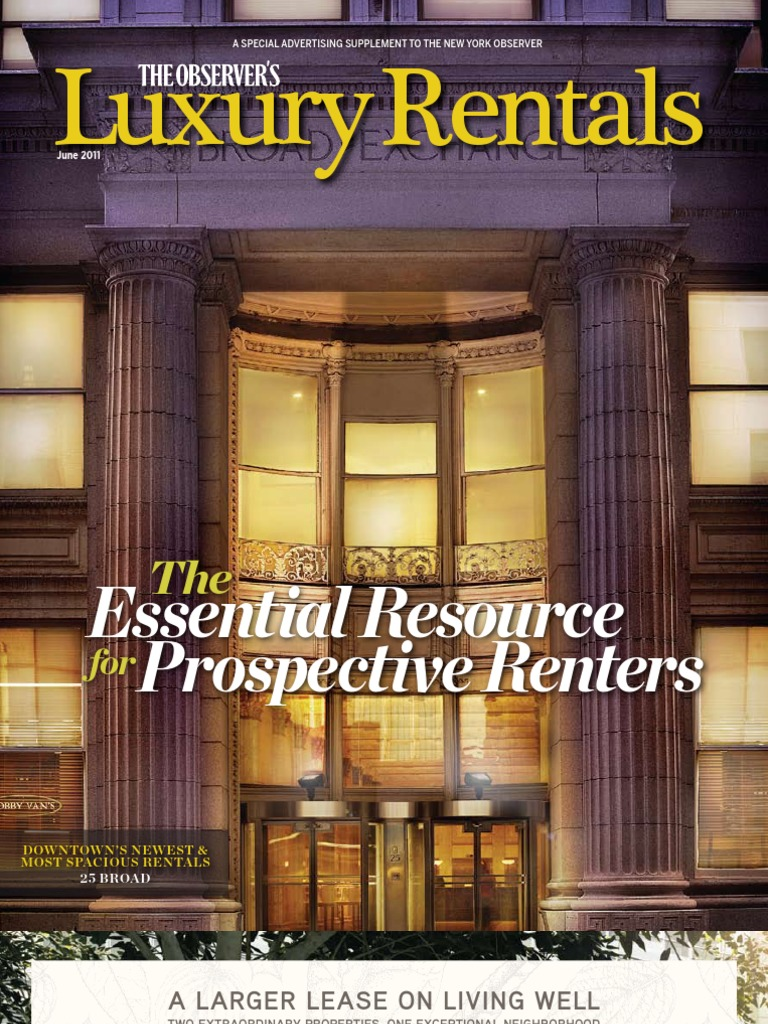 The Observer\'s Luxury Rentals 2011 | Apartment | Manhattan