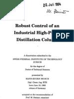 A Rigorous Dynamic Model of Distillation Columns