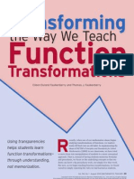 transforming the way we teach transformations