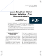 +++ Boom, Bust, Boom - Internet Company Valuation - From Netscape to Google