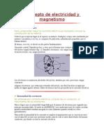 Concepto de Electric Id Ad y Magnetismo