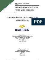 Alto Chicama Plan de Cierre de Minas